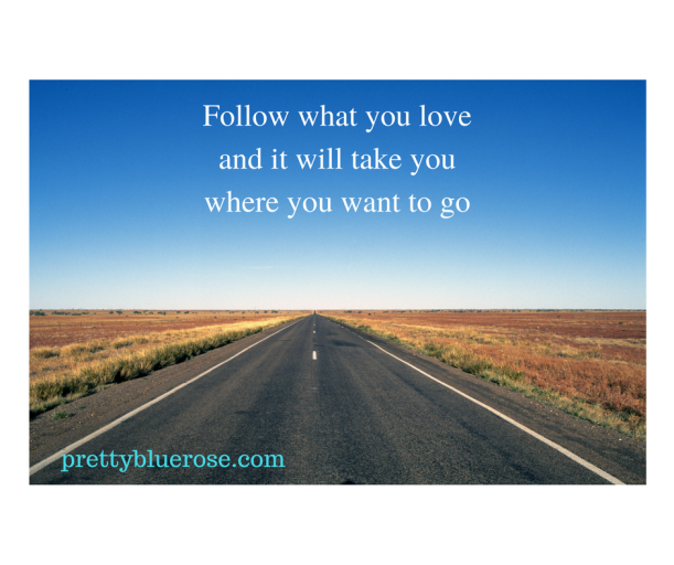 Follow what you love and it will take you