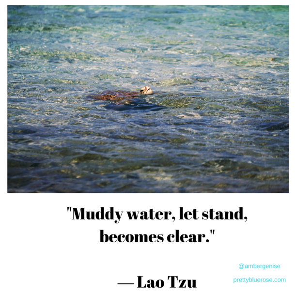 """Muddy water, let stand, becomes clear.""― Lao Tzu"
